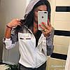 Легкая женская ветровка с капюшоном из плащевки, реплика Гуччи, норма и батал, фото 6