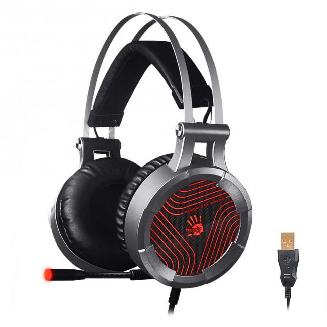 Игровые наушники с микрофоном Bloody G530 Black, игровая гарнитура
