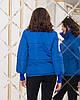 Жіноча весняна куртка з високим теплим коміром і довгими манжетами з в'язки, фото 8