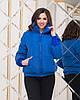 Жіноча весняна куртка з високим теплим коміром і довгими манжетами з в'язки, фото 7