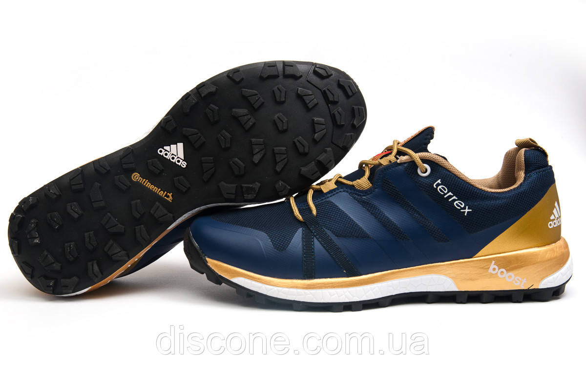 Кроссовки мужские 11662 ► Adidas Terrex Boost, темно-синие ✅SALE! 42% ► [ 42 43 ]