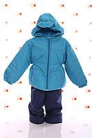 Демисезонная куртка и полукомбинезон на мальчика Кроха- бирюзовый