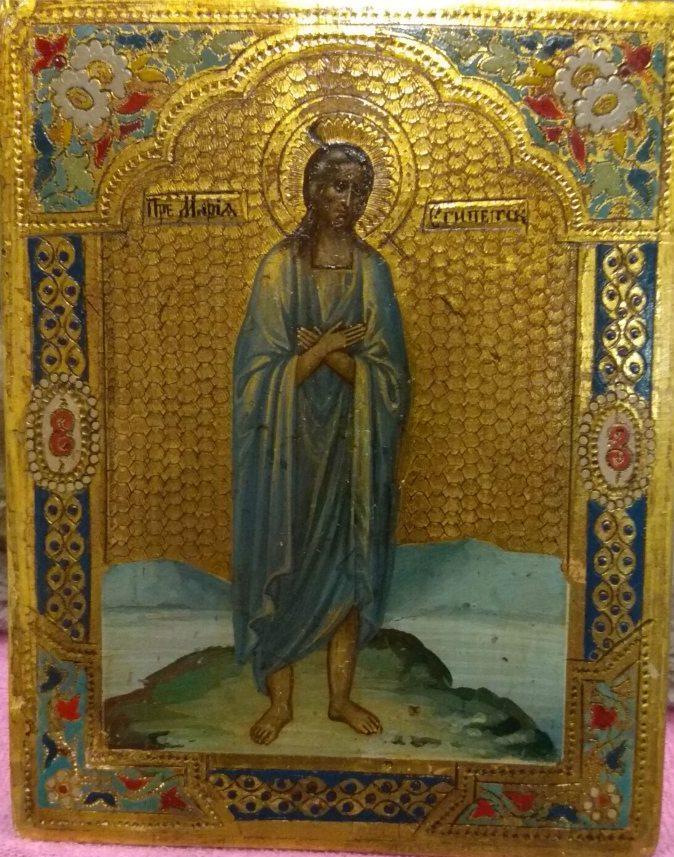 Икона Марии Египетской 19 век Россия