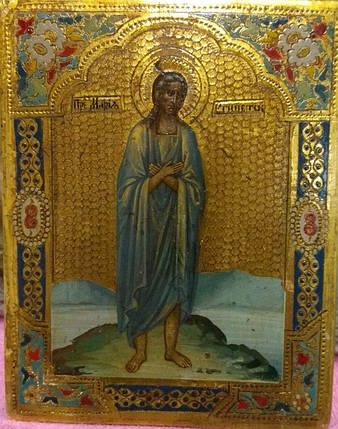Икона Марии Египетской 19 век Россия, фото 2