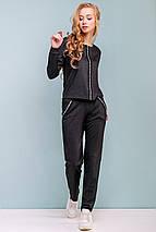 Женский черный прогулочный костюм (3199 svt), фото 3