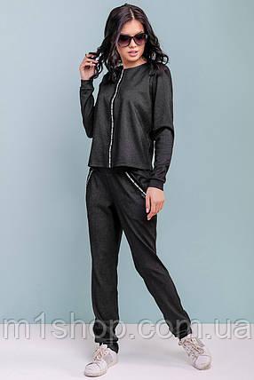 Женский черный прогулочный костюм (3199 svt), фото 2