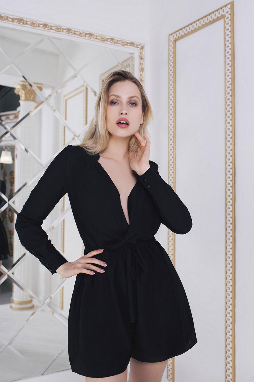 d9b44cca444 Черный Ромпер свободного кроя - LILIT ODESSA оптово-розничный магазин  женской одежды в Одессе
