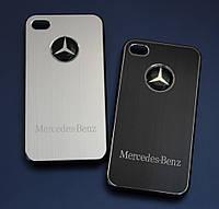 Чехлы для iPhone 4 4S Mercedes металлические, фото 1