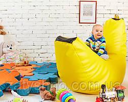 Бескаркасное кресло банан