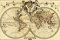 """Набор алмазной вышивки (мозаики) """"Старинная карта мира"""""""