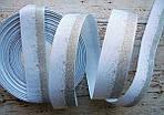 Стрічка репсова 25мм з візерунком №237 (біла+срібний глітер)