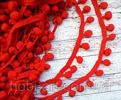 Тасьма з помпончиками 1,5см. (червона)