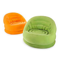 Надувное кресло Intex 68577, 112-104-79см, велюр