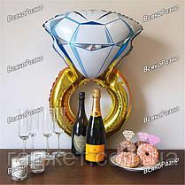 Воздушный шар Кольцо с бриллиантом, фото 2