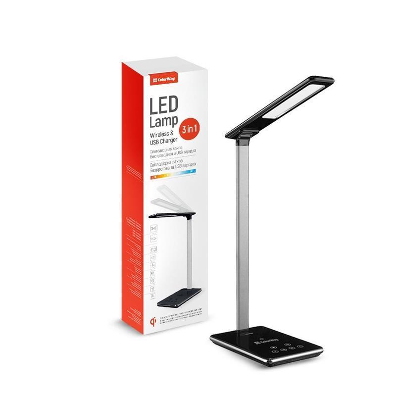 Настольная лампа LED ColorWay CW-DL01WC-B Black