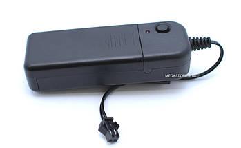 Холодный Неон Гибкая Неоновая Трубка Светящийся Шнур Светопровод 3м Комплект с Инвентором (Flex Neon Red), фото 2