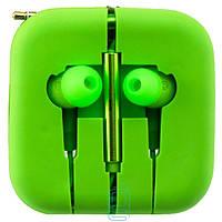 Наушники с микрофоном Xiaomi Piston V3 зеленые