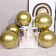 Воздушный шар bubble баблс хром серебро 22 дюйма 60 см, фото 3