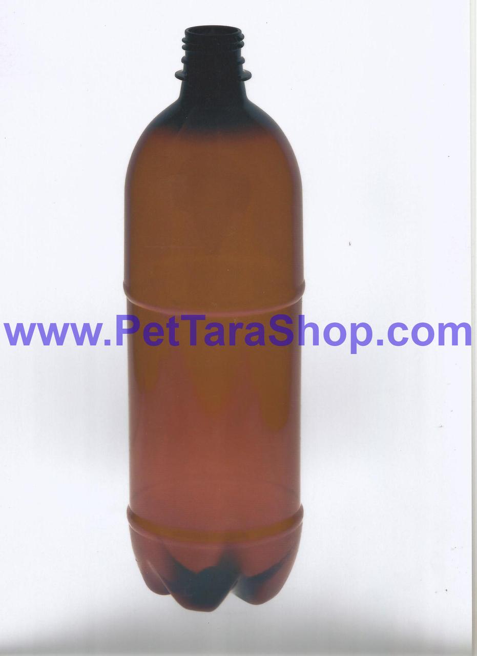Пластикова Пляшка Коричнева 1л з кришкою