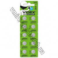 Батарейка Videx AG8 (LR1120, LR55, 191, GP91A, 391, SR1120W) 1,5v блистер 10 шт