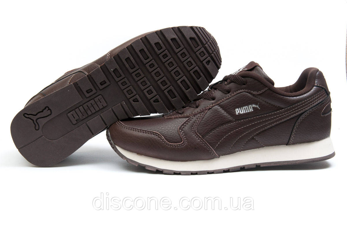 Кроссовки мужские ► Puma  Runner,  коричневые (Код: 11944) ► [  44 45  ] ✅Скидка 38%