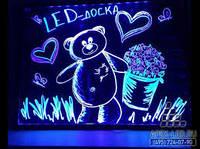 Світлодіодна Флеш Дошка LED подарунок для дітей 40*60 см.