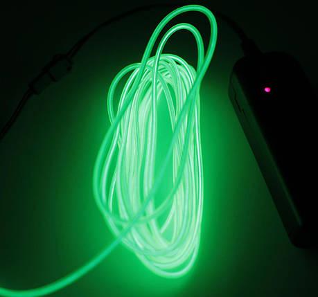 Холодный Неон Гибкая Неоновая Трубка Светящийся Шнур Светопровод 3м Комплект с Инвентором (Flex Neon Lime), фото 2