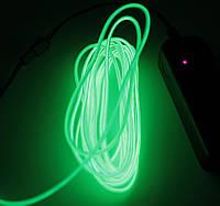 Холодный Неон Гибкая Неоновая Трубка Светящийся Шнур Светопровод 3м Комплект с Инвентором (Flex Neon Lime)