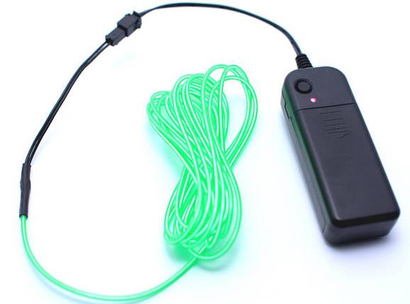 Холодный Неон Гибкая Неоновая Трубка Светящийся Шнур Светопровод 3м Комплект с Инвентором (Flex Neon Green), фото 2