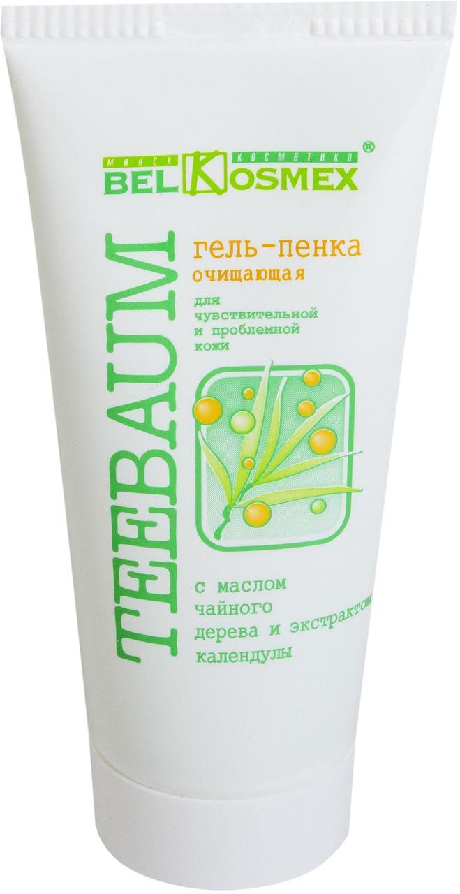Гель-пенка очищающая для чувствительной и проблемной кожи с маслом чайного дерева и экстрактом календулы