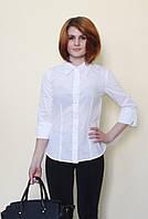 Белая блуза 3/4 рукав
