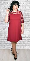 Очаровательное платье с гипюром