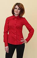Женская рубашка красного цвета