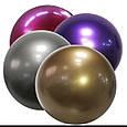 Воздушный шар bubble баблс хром серебро 22 дюйма 60 см, фото 2