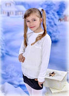 Блуза трикотаж с шифоном Little Winners
