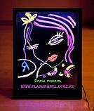 Светодиодная Флеш LED-доска для рекламы 40*60 см. без маркера, фото 2