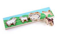 Оригинал. Деревянные игрушки для детей Доска-Вкладыш Отара