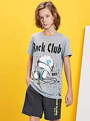 Футболка детская серая Glo-Story-110