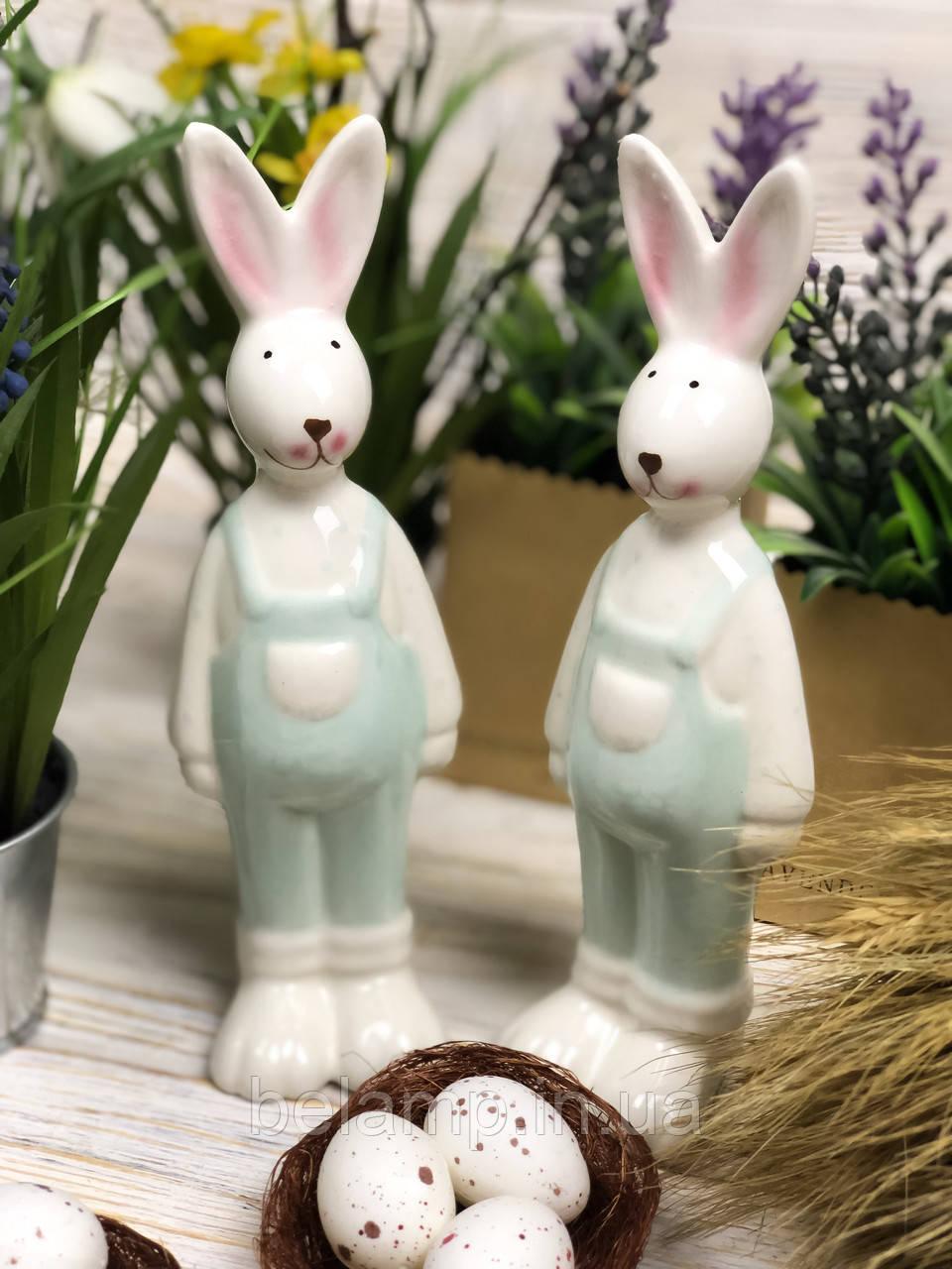 Пасхальный кролик в мятном костюме (Цена за 1 зайца)