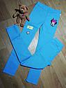 Ярко голубые стрейчевые джеггинсы с аппликацией Минни (Размер 9-10Т) H&M (Англия), фото 2