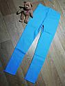 Ярко голубые стрейчевые джеггинсы с аппликацией Минни (Размер 9-10Т) H&M (Англия), фото 3