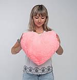 Сердце подушка розовая 50 см, фото 2