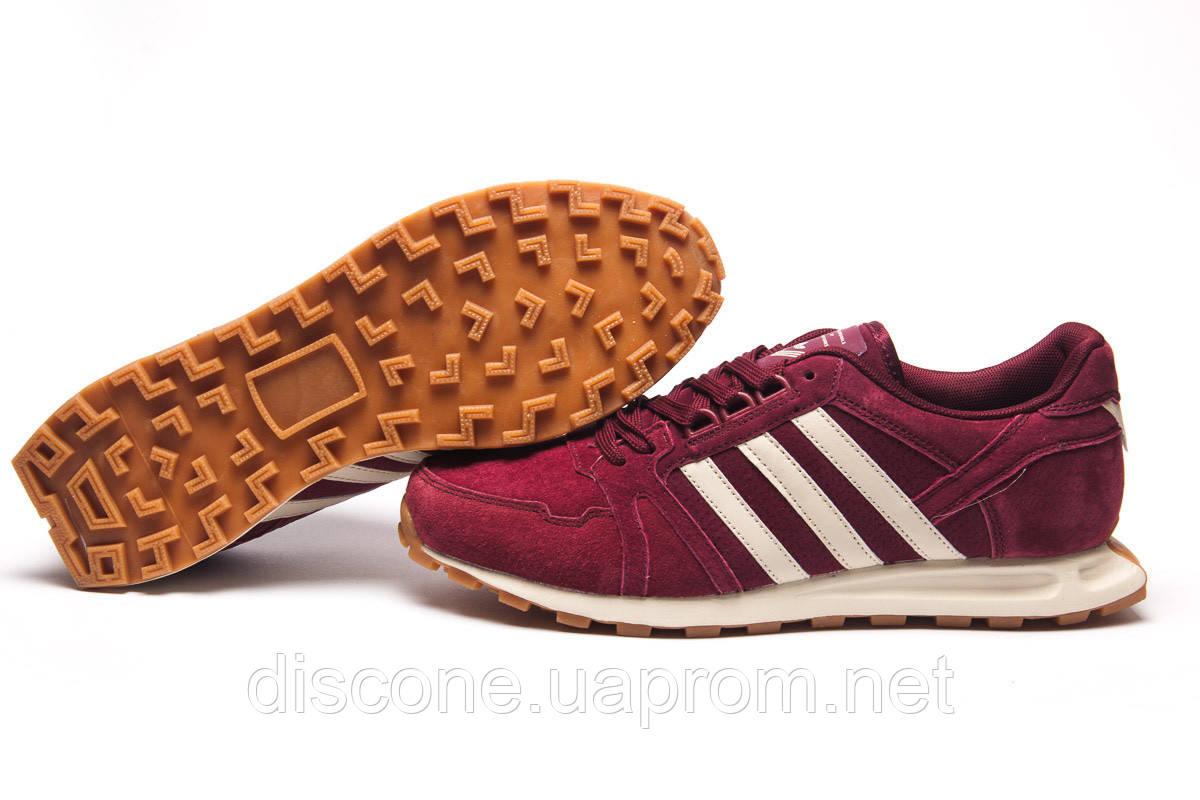 Кроссовки мужские 11302 ► Adidas, бордовые ✅SALE! 40% ► [ 44 ]