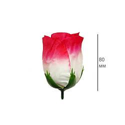 Роза бутон широкий шелк 80 мм цвета микс