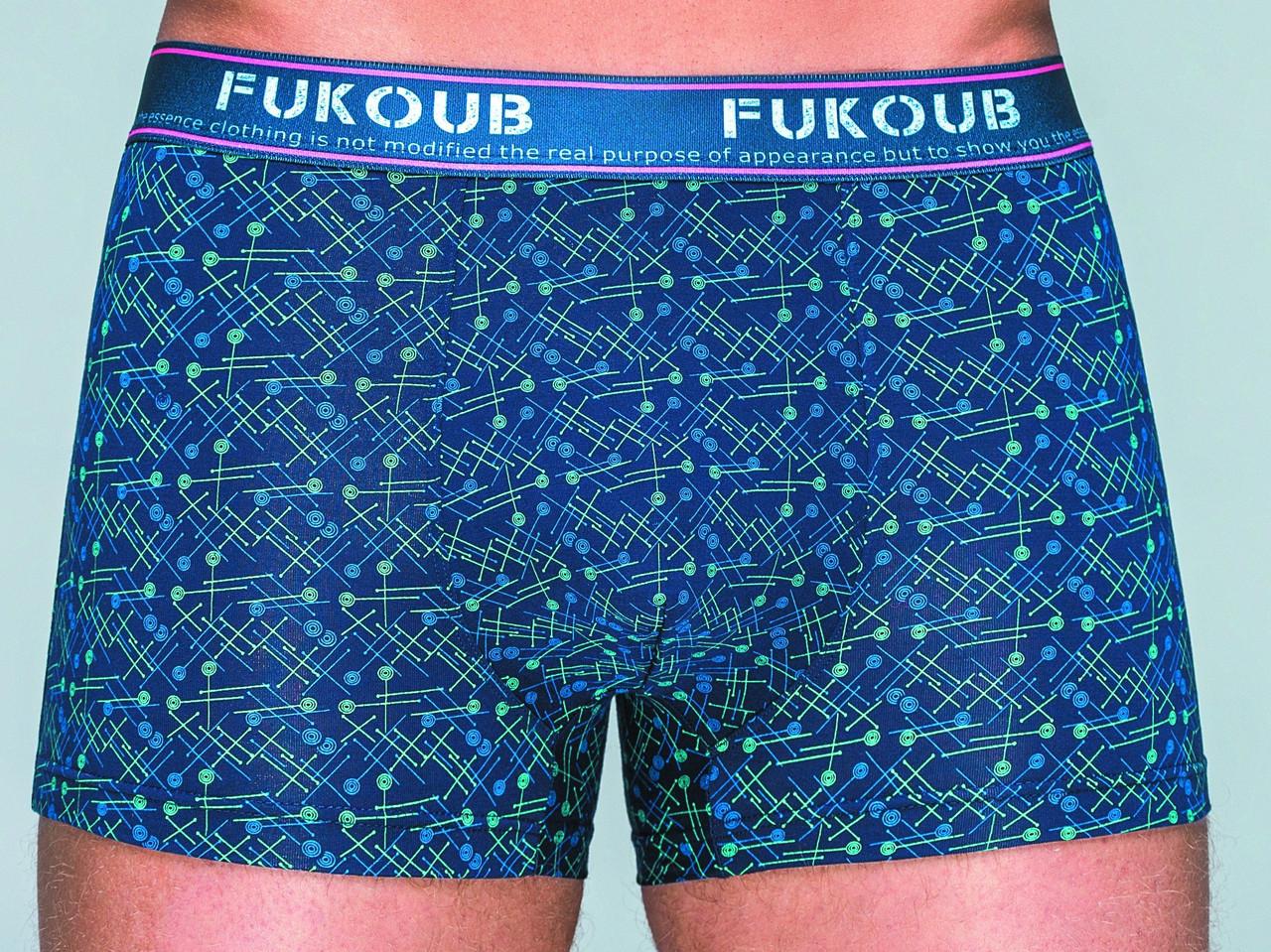 Трусы боксеры мужские Fuko UB 8113 с широкой резинкой