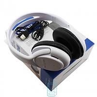 Беспроводные наушники с микрофоном MP3 FM AT-BT818 белые
