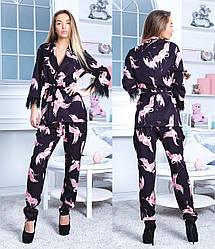 Женский пиджак-блуза Журавли 163
