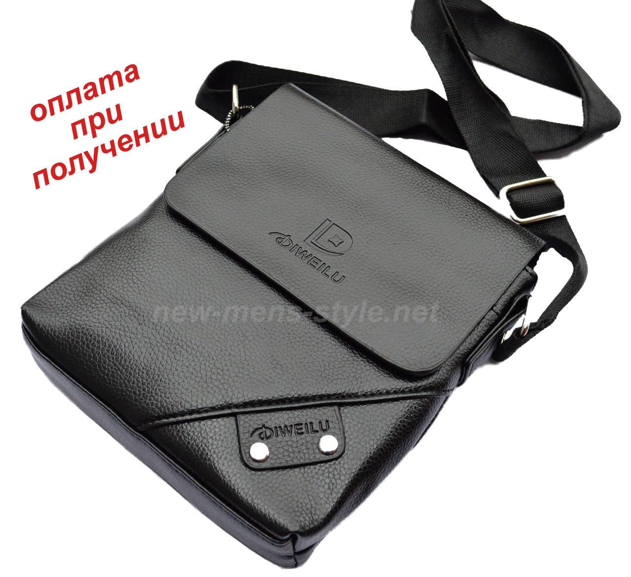Мужская чоловіча кожаная сумка барсетка борсетка DIWEILU на подарок