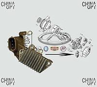 Реле регулятор генератора, шоколадка, Geely MK2 [1.5, с 2010г.], LF479Q3-3701180A, Original parts