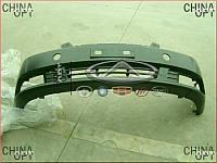 Бампер передний, пластик, черный, не крашеный, Geely EC7[1.8], 1068001651, Original parts